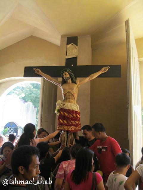 Jesus on the cross at Baclaran Church in Pasay City