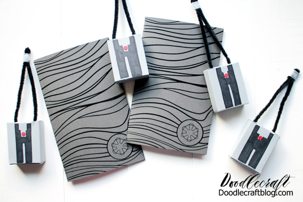 Make Mandalorian inspired party favors, gifts or things just for you in this fun tutorial. Make some Beskar steel notebooks and tracking fob goody boxes filled with candy.