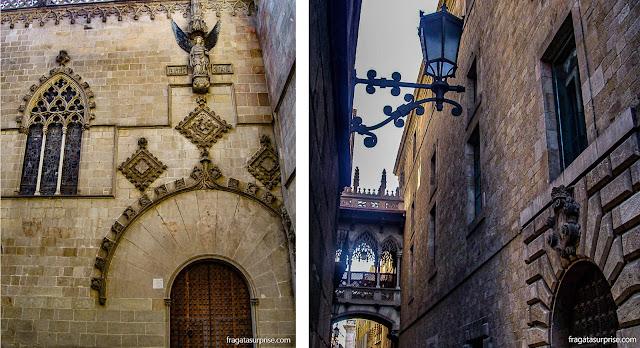Casa de la Ciutat e Arco do Bispo, em Barcelona