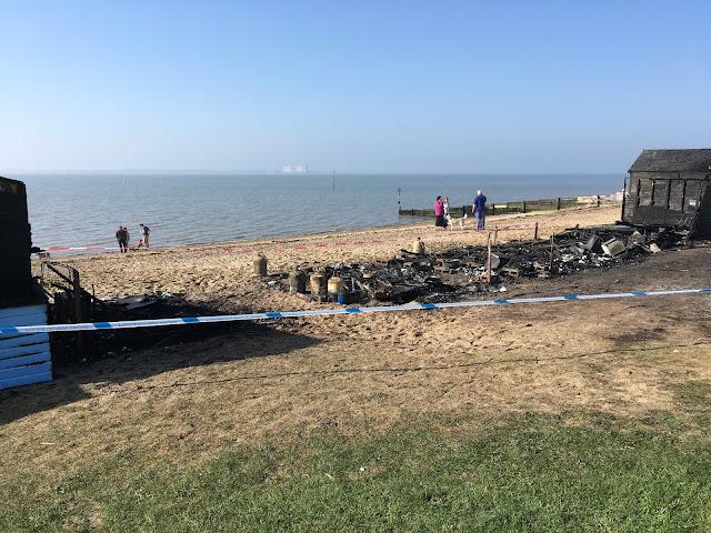 Mersea Beach Hut Fire