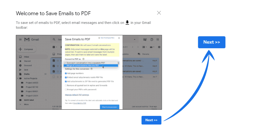 Save Email as PDF