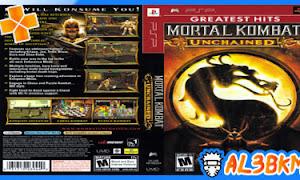 تحميل لعبة Mortal Kombat Unchained psp مضغوطة لمحاكي ppsspp