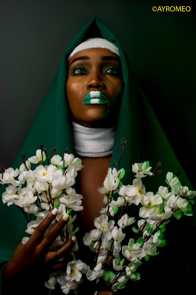 Fast Rising Model Rosekate Andy Release New Photos To Celebrate Nigeria Independent Day