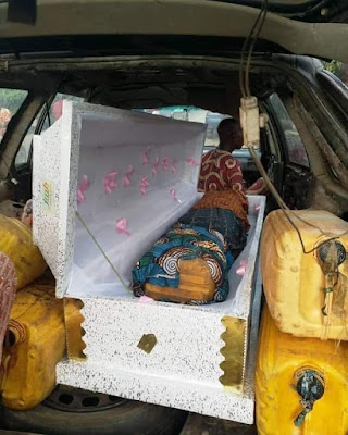 Man Caught Trying To Use Coffin To Smuggle Petrol Into Togo (Photo)