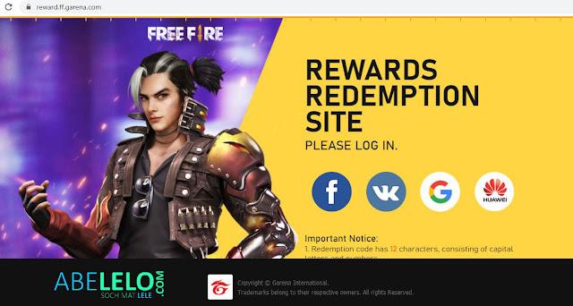 Garena Rewards Redemption Site