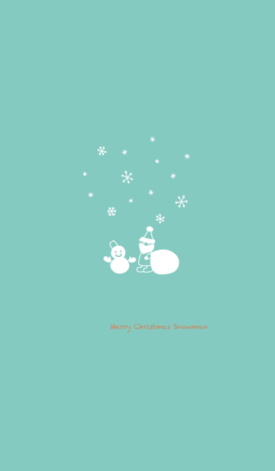 Merry Christmas Snowman ~Green~