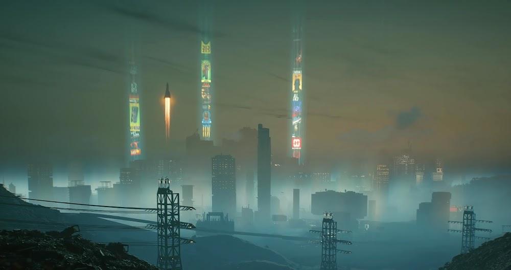 Space travel in Cyberpunk 2077 game