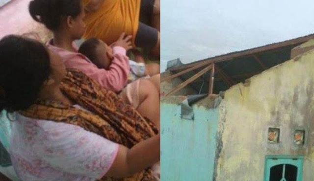 Terbawa Angin Puting Beliung, Bayi ini Terbang Sampai ke Atap Rumah Tetangga