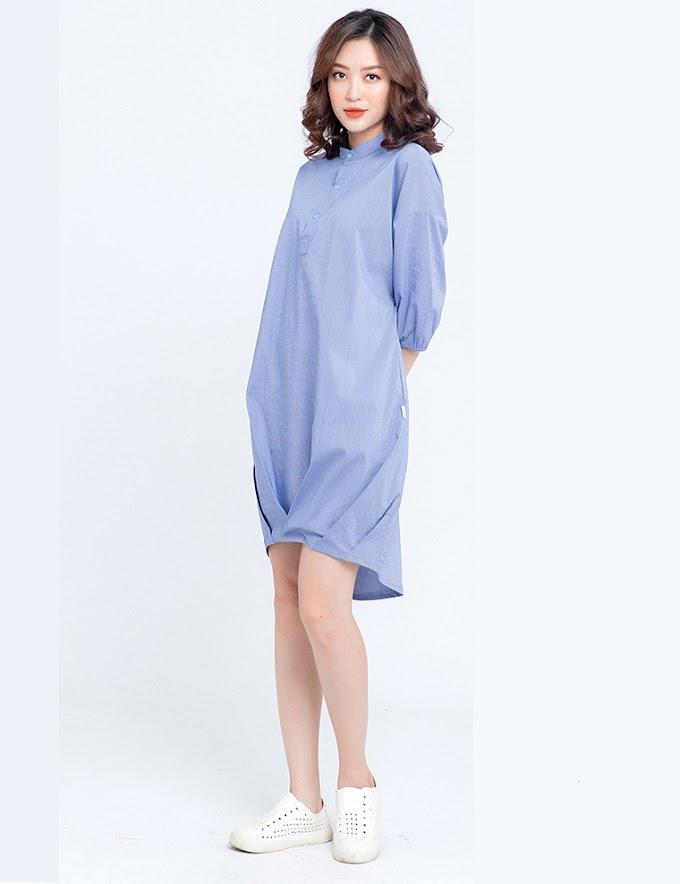 Đầm Suông Gấu Xếp Ly