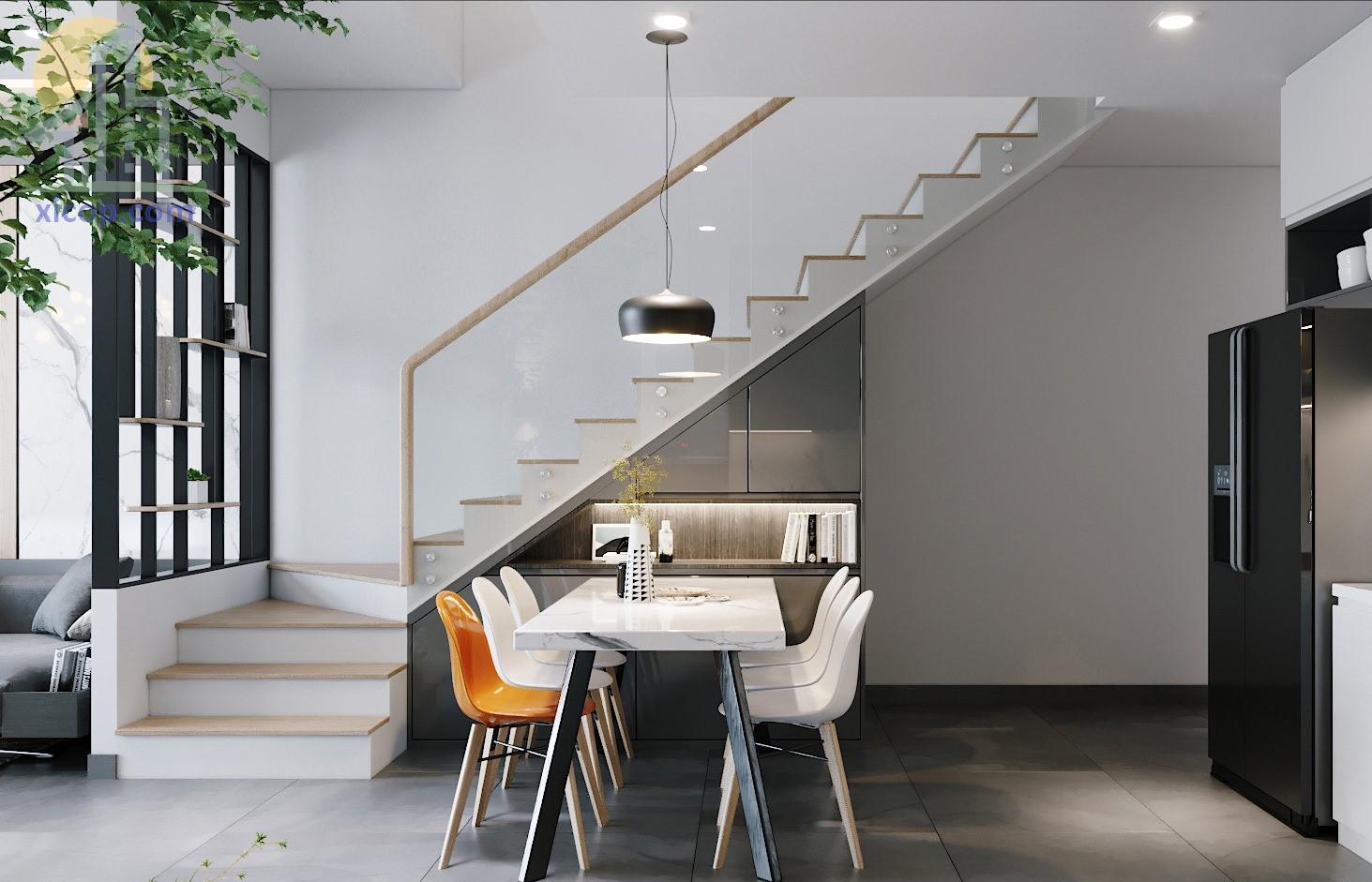 Mẫu nhà 3 tầng mái thái hiện đại và đẹp kiểu nhà ống