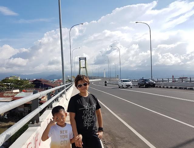 Jembatan Soekarno Manado panjang 1.127 km lebar 17 m || JelajahSuwanto