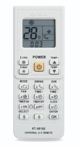 arti lambang pada remote ac universal