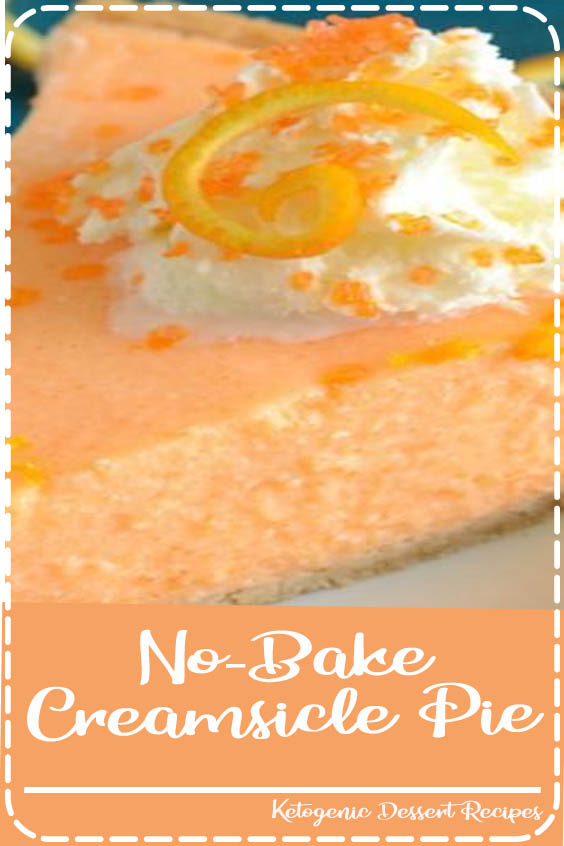 No-Bake Creamsicle Pie