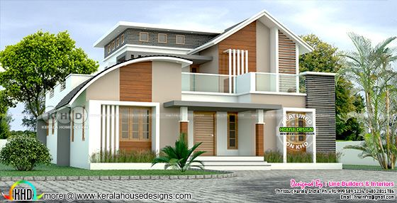 Mixed roof 5 BHK contemporary home 2681 sq-ft