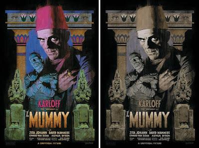 "Universal Monsters ""The Mummy"" Print by Paul Mann x Vice Press"