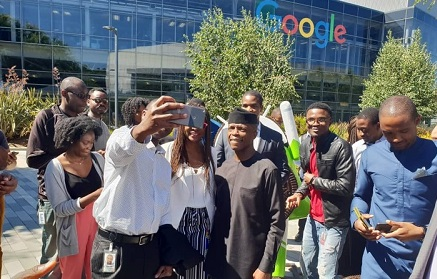 Osinbajo Visits Google Headquarters In The US, Google CEO Receives Him