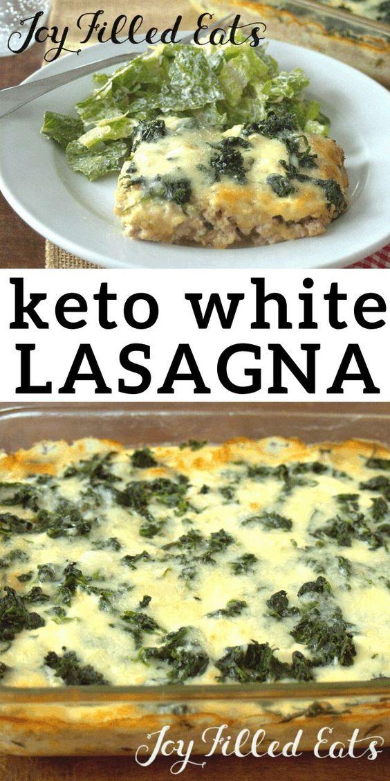 White Keto Lasagna Recipe