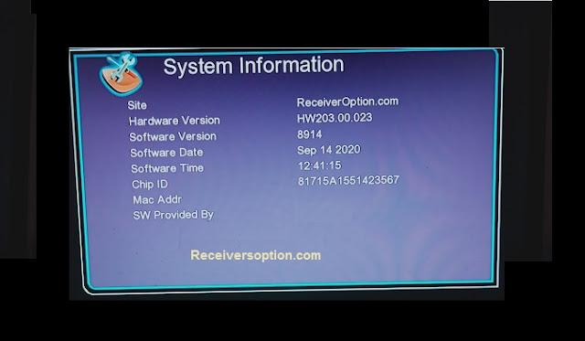 GX6605s F1, F2 Hw203.00.023 HD Receiver New Software