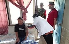 Memberikan Rasa Nyaman Petugas Medis, Koramil Rawalo Laksanakan Pendampingan Vaksinasi ODGJ