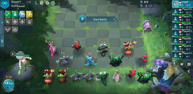 line up posisi formasi chess rush