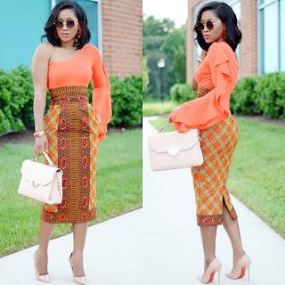 Three Tips On How To Style Ankara Pencil Skirts