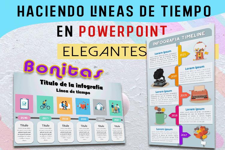 Cómo hacer una línea de tiempo en PowerPoint con diseño creativo