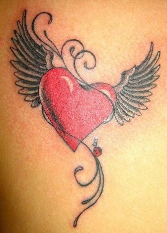 Heart Tattoo design for girls