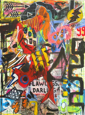 Oana-Singa-Flawless-Darling-2018-acrylic-on-canvas-40x30inches