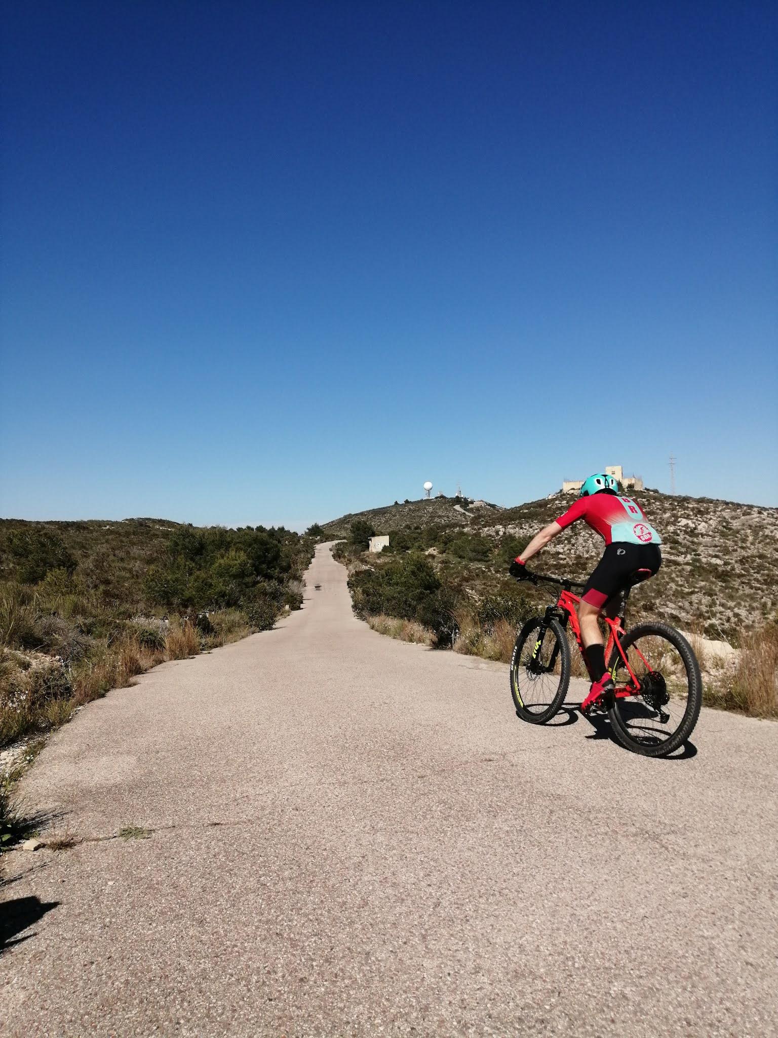 View of the summit of la Bola de Cullera, Valencia, Spain