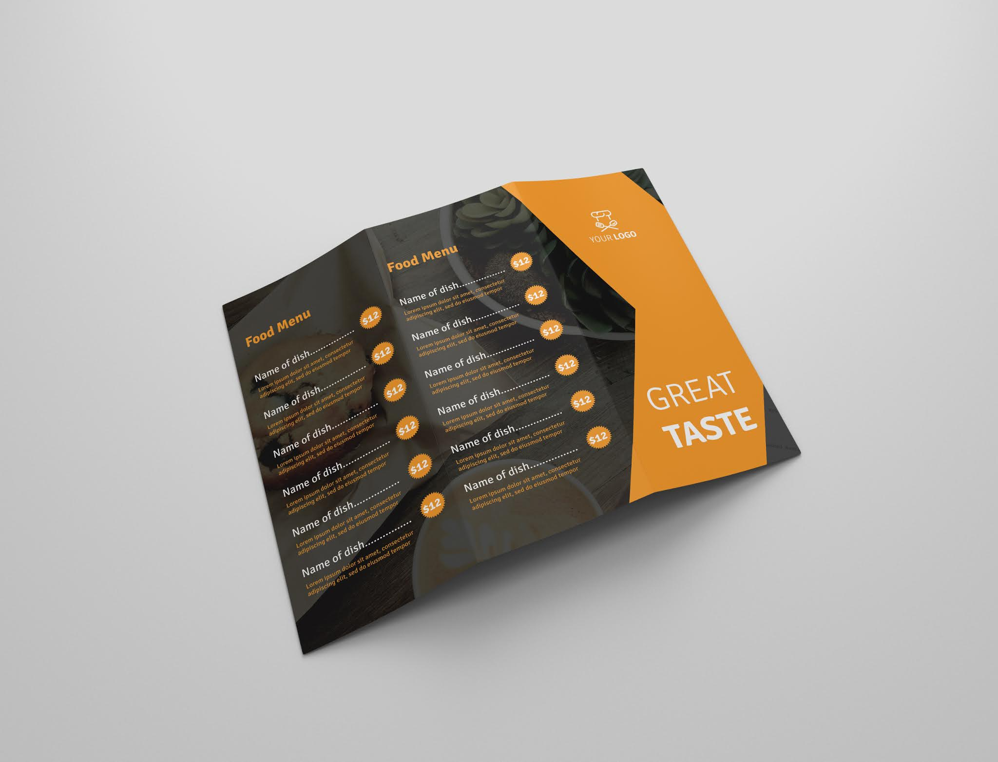 Download free restaurant brochure psd open source menu food psd free download 4