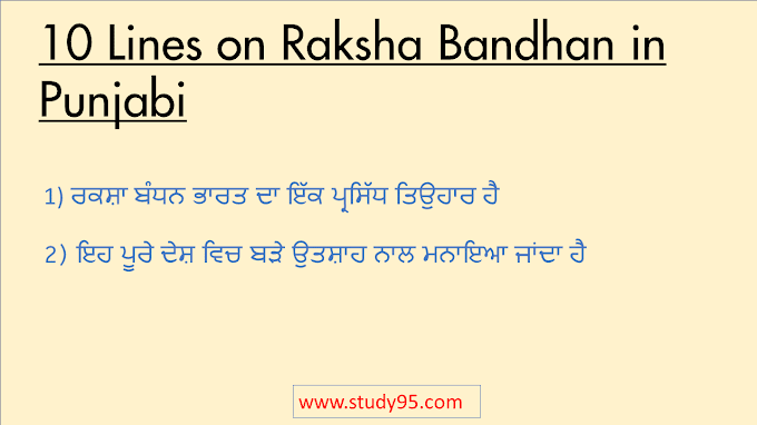 10 Lines on Raksha Bandhan in Punjabi - Study95