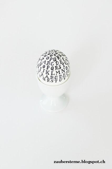 Eier bemalen, Eier verzieren, Eier beschriften, Buchstaben auf Ei, Osterinspiration, DIY Eier