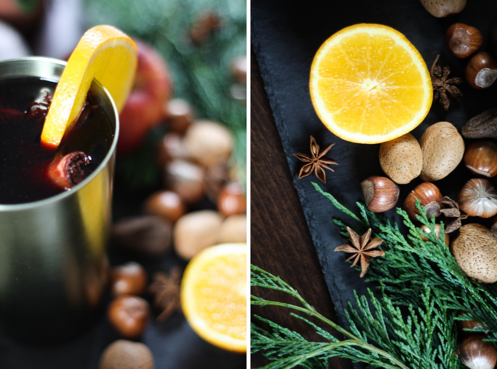 Mulled wine with orange & honey