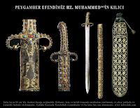 Peygamber Efendimizin kılıcının yakından ve uzaktan görüntüleri