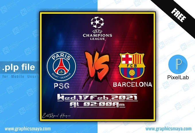 Football Match Fixture Plp - PixelLab Prject File Free Download
