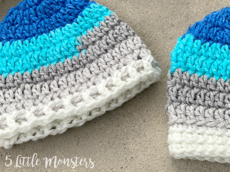 1c3208b97 5 Little Monsters: Basic Newborn Hat with 2 Band Options