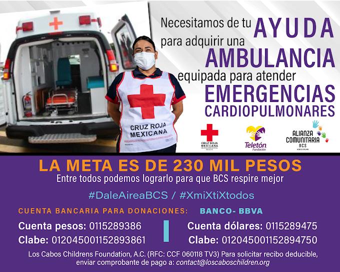 ¡Cooperemos para nueva ambulancia para Cruz Roja!