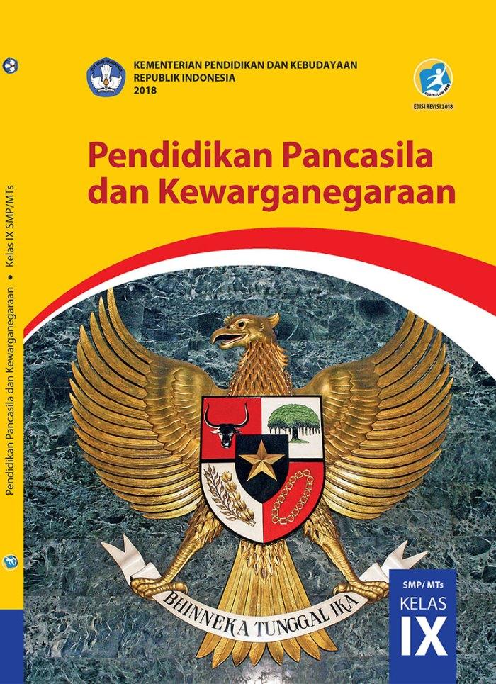 Buku Siswa SMP Kelas 9 Pendidikan Pancasila dan Kewarganegaraan