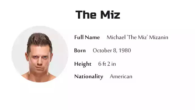 The Miz Biography History Net Worth And More