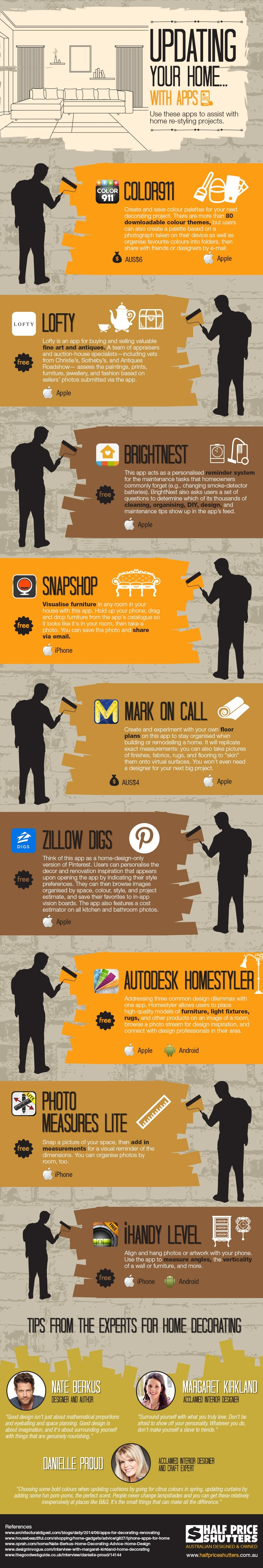 Updating Your Home With Apps #Infographic