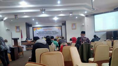 Rekapitulasi Suara Kabupaten Solok Selesai, Asda-Pandu Unggul  814 Suara Perolehan Suara Terbanyak