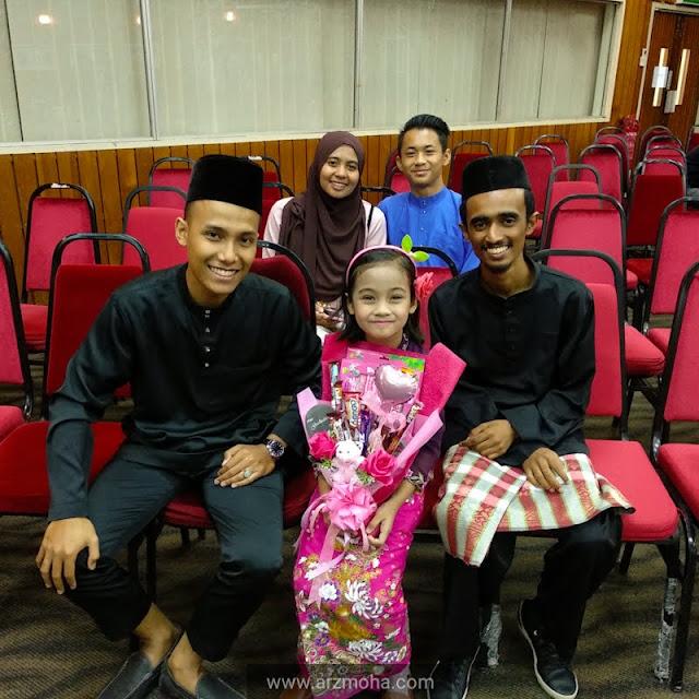 kids and chocolate bouquet, cik puteri bersama cikgu,