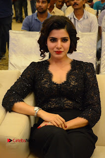 Samantha Pictures in Black Dress at A Aa Success Meet | ~ Bollywood and South Indian Cinema Actress Exclusive Picture Galleries