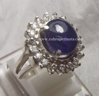 Cincin Batu Permata Blue Saphire - ZP 423
