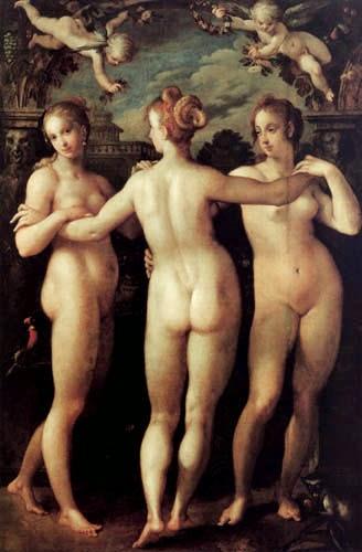As Três Graças - Hans Von Aachen e suas pinturas ~ Um grande pintor do estilo maneirista