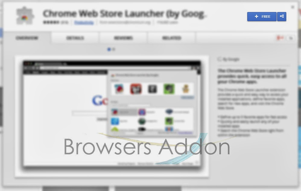 Chrome Web Store Launcher add chrome