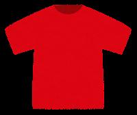 Tシャツのイラスト(赤)