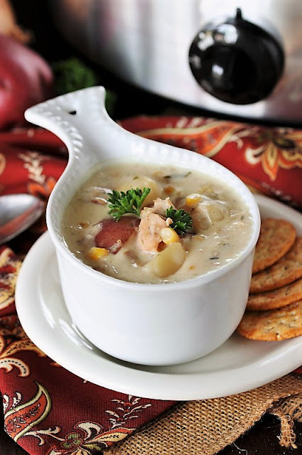Bowl of Slow Cooker Clam Chowder Image