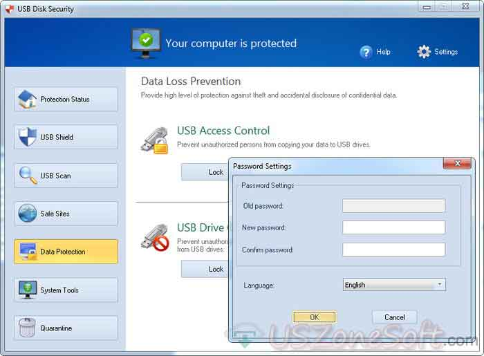USB-Disk-Security-Data-Protection-screen--free-usb-virus,-threat,-malware,-trojan,-dangerous-content,-infected-item-scanner-cleaner-remover-usb-password-protect-creator-program
