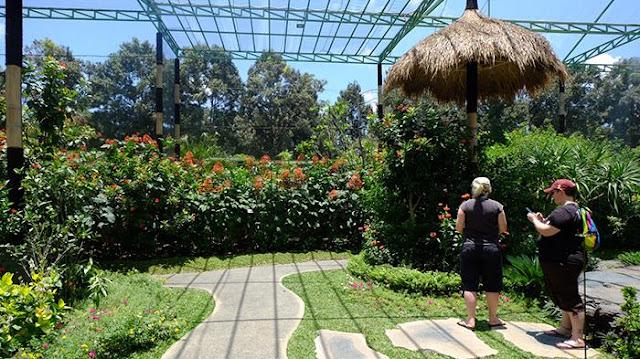 Area Wisata yang sejuk di Taman Wisata Kupu-Kupu atau Bali Butterfly Park